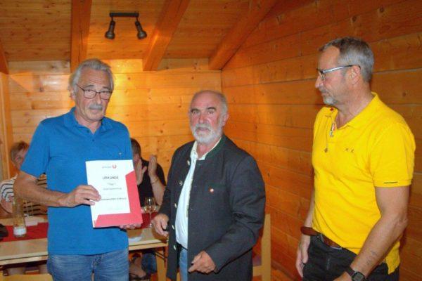 Sauerschnig Josef: USC Mitglied seit 1986 - Kassier Ehrenzeichen in Bronze